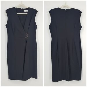 Calvin Klein Faux Wrap Sleeveless Dress